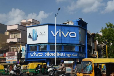 Chinese mobile phone maker Vivo billboard