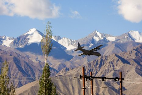 india, military, plane, ladakh, china, border