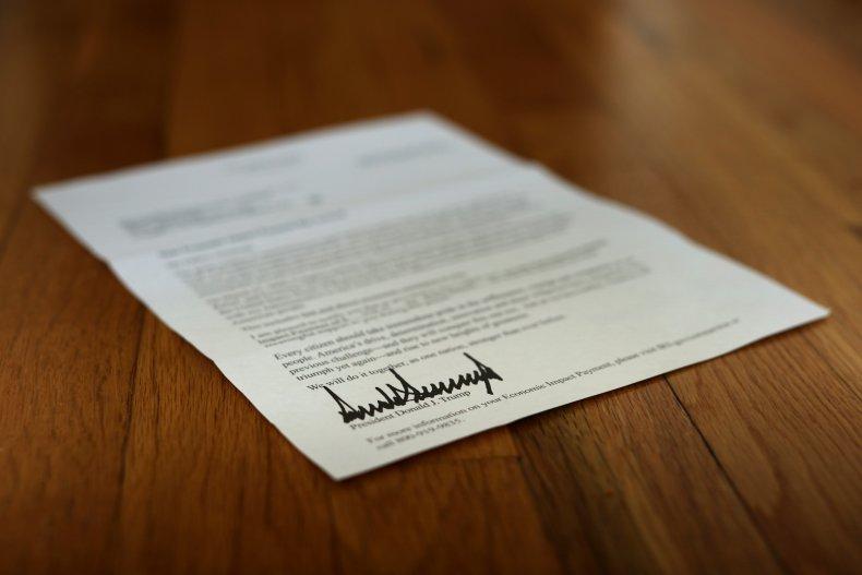 stimulus letter Trump