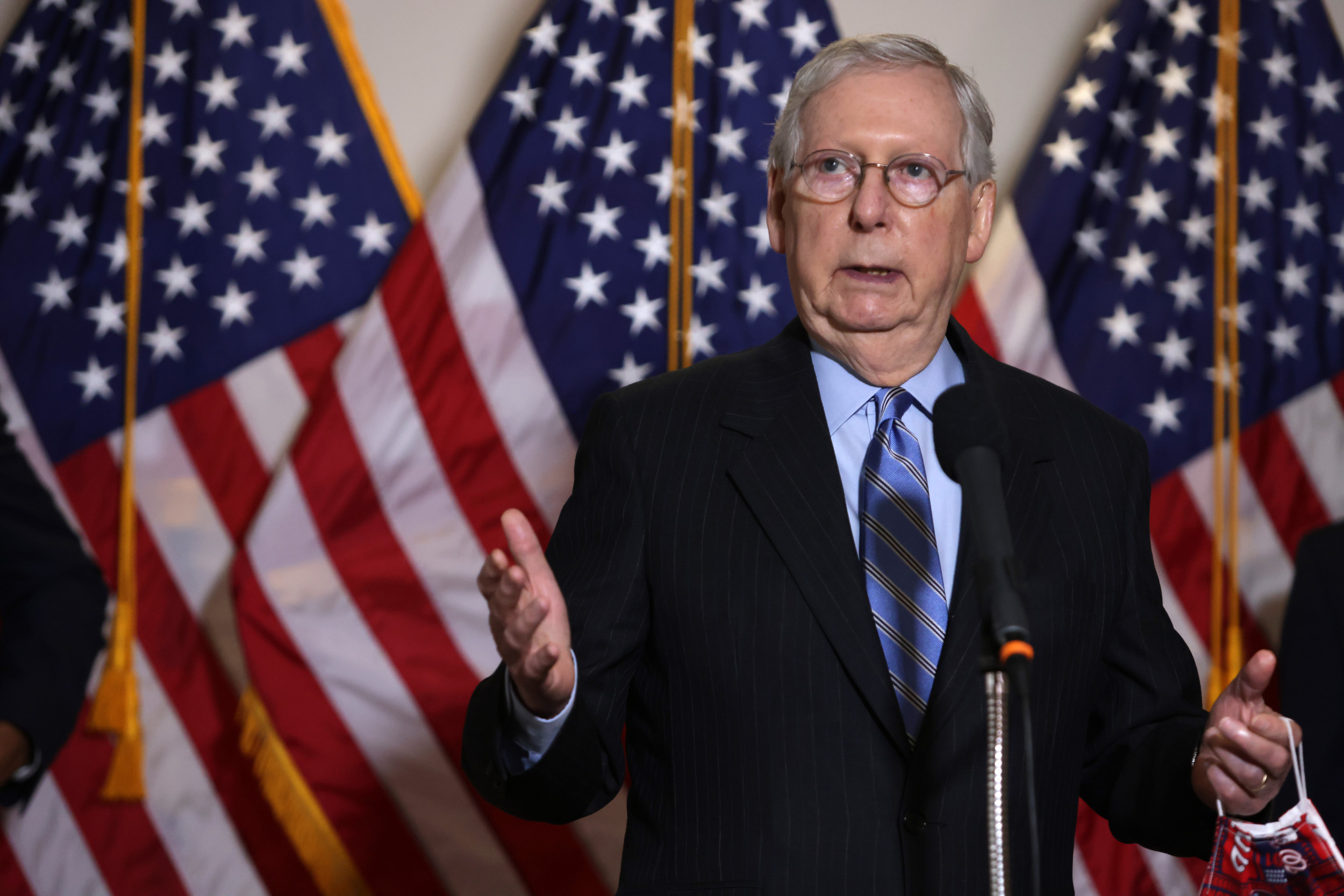 McConnell Ignores Question of Whether GOP Coronavirus Bill Could Pass As Senate Prepares for Thursday Vote thumbnail