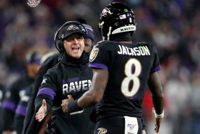 John Harbaugh, Lamar Jackson, Baltimore Ravens
