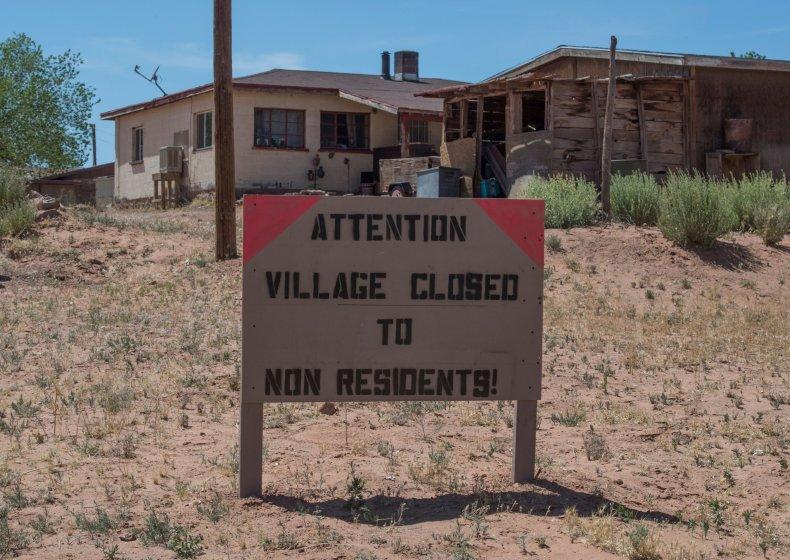 Navajo Nation town coronavirus curfew May 2020