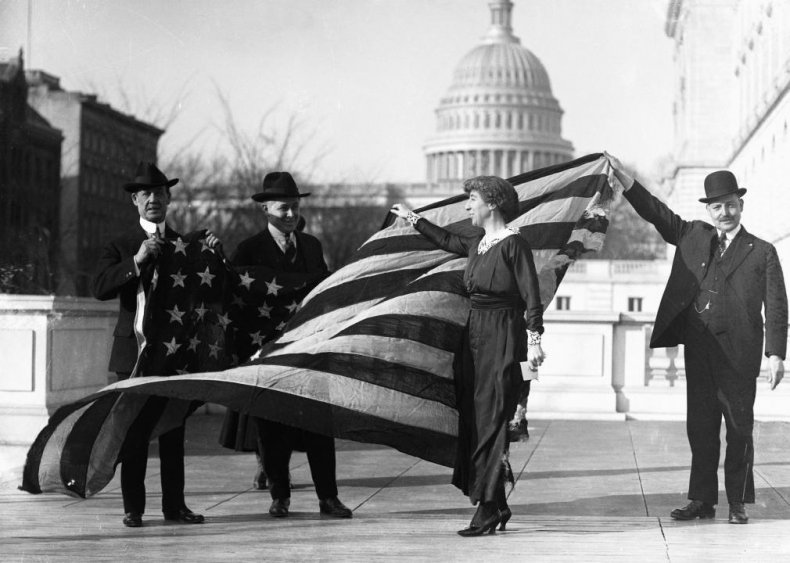 1917: First woman serves in Congress