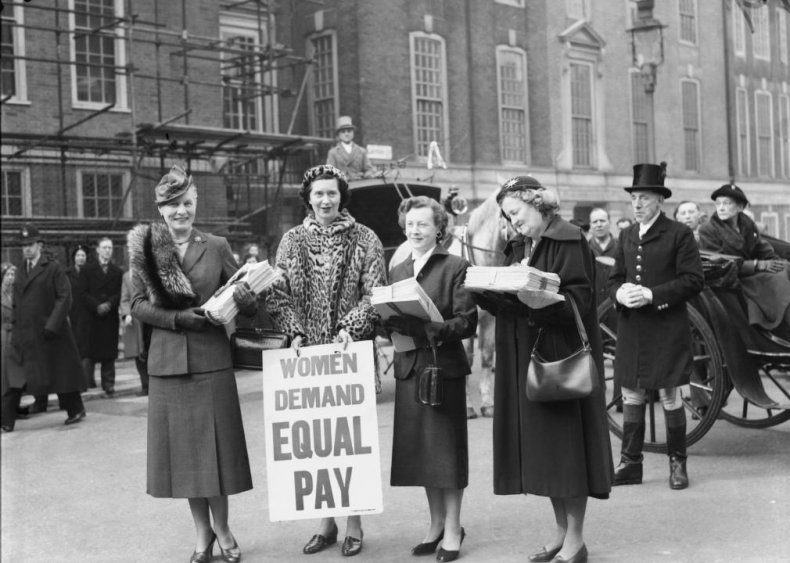 1945: Congress introduces Women's Equal Pay Act