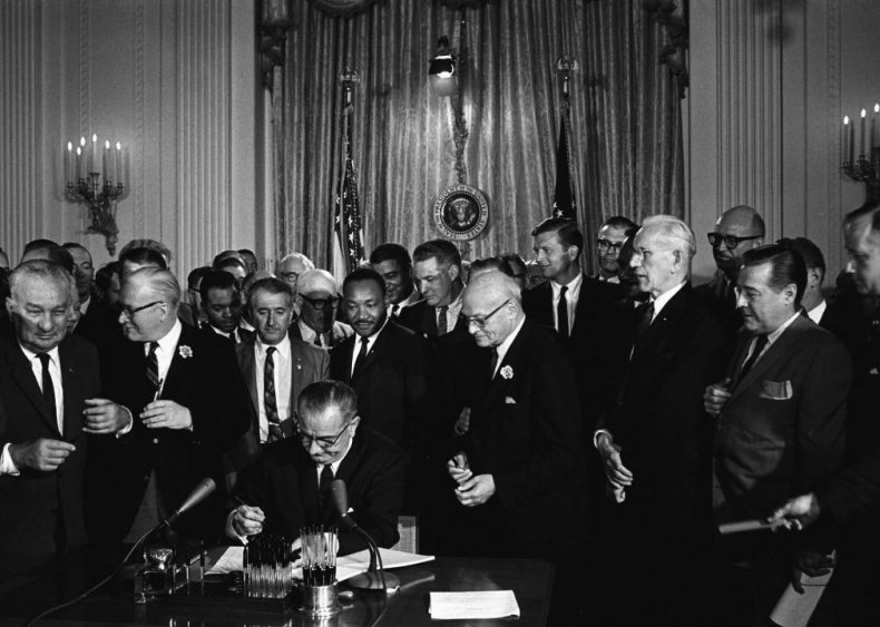 1964: Civil Rights Act strengthens gender equality