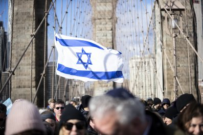 Israel supporter in New York City