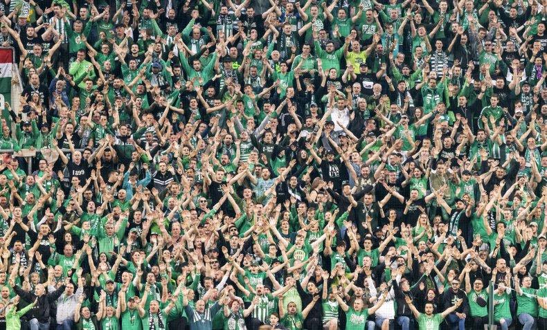 Budapest Hungary soccer match crowds June 2020