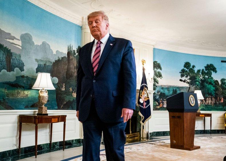 Donald Trump in Diplomatic Reception Room