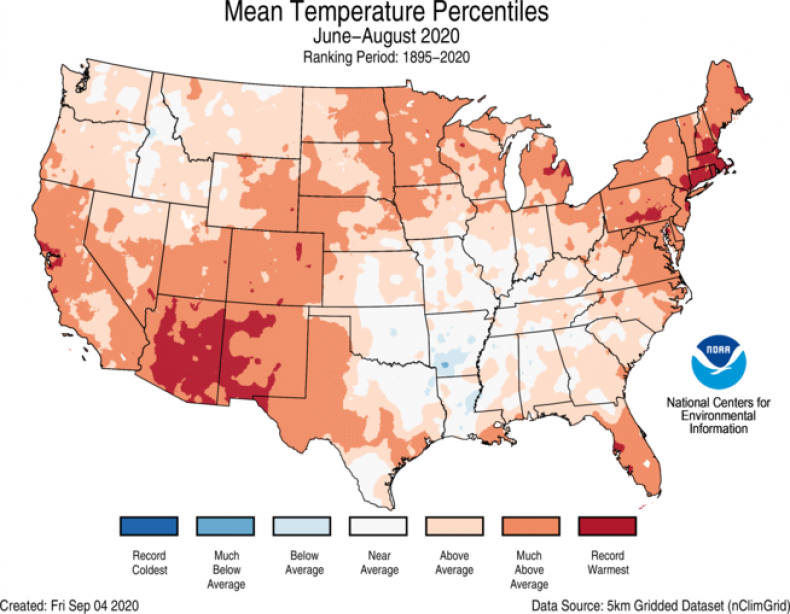 record US temperatures map