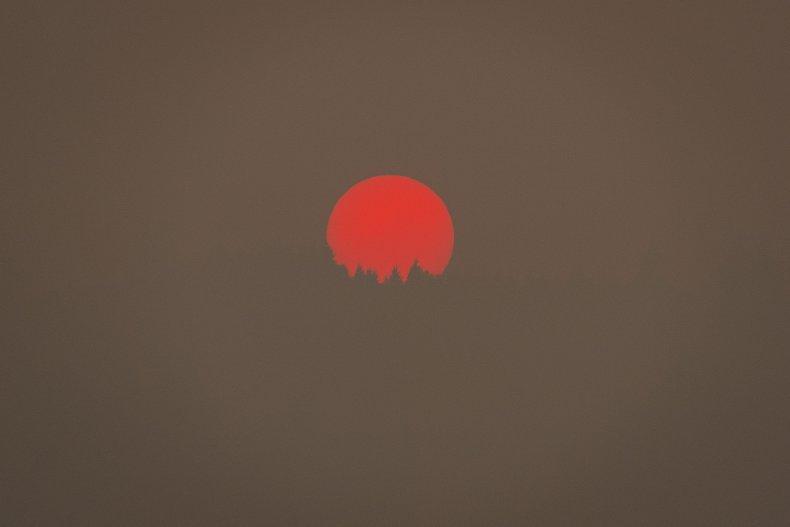 Oregon Fire Sun