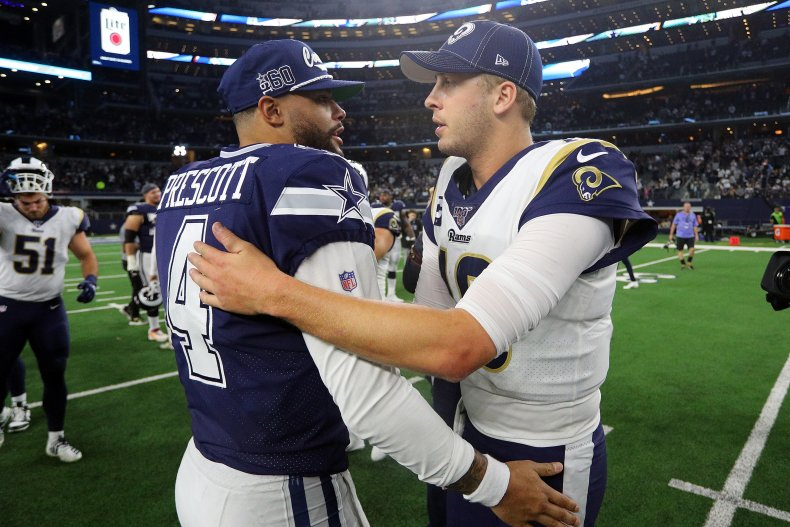 Dak Prescott, Dallas Cowboys, Jared Goff