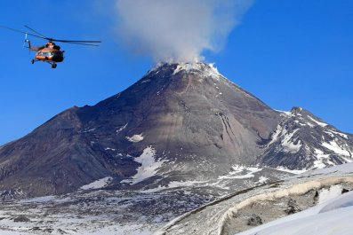 Russia's Bezymianny volcano