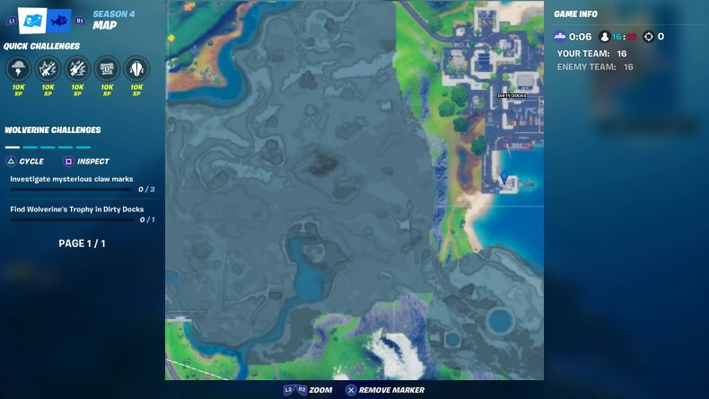 fortnite wolverines trophy map