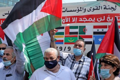palestine, rally, nablus, west, bank, peace, deal