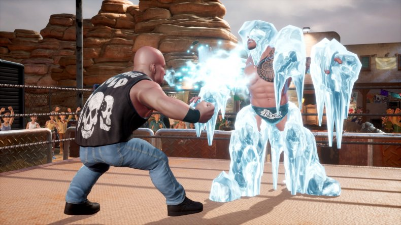 WWE 2K Battlegrounds Stone Cold Iced Rock