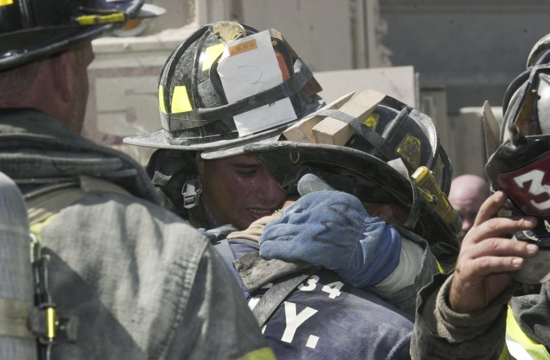 Firefighters during the September 11th terrorist attack