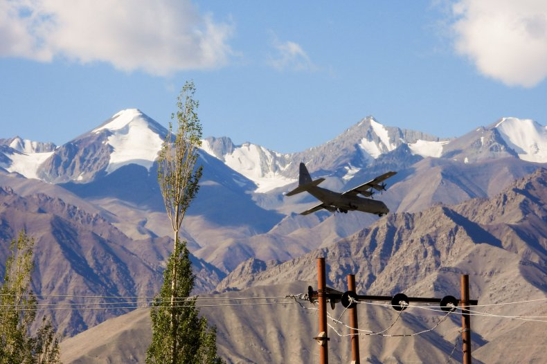 Indian plane flying near Chinese-Indian border
