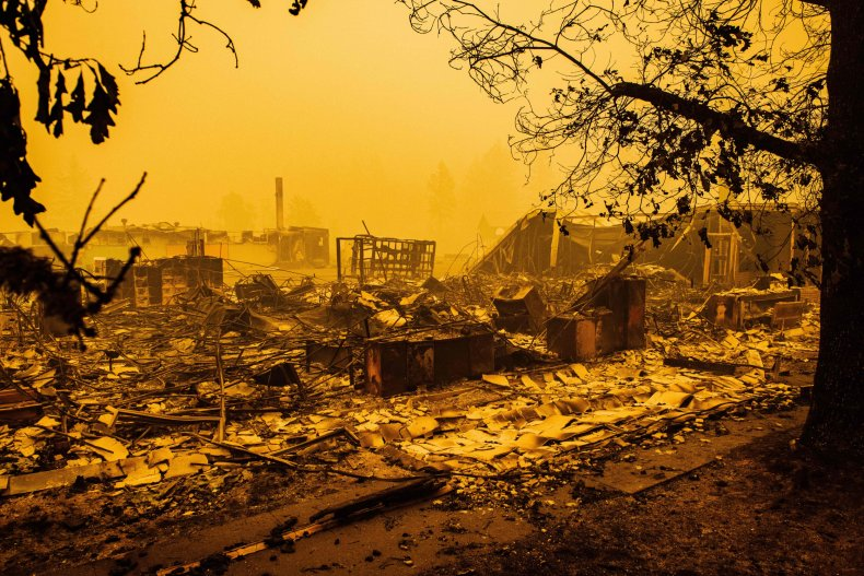 Elementary school Santiam Fire Oregon September 2020