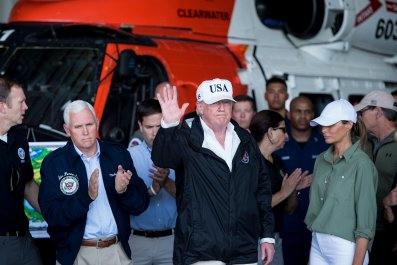donald trump, hurricane irma, getty