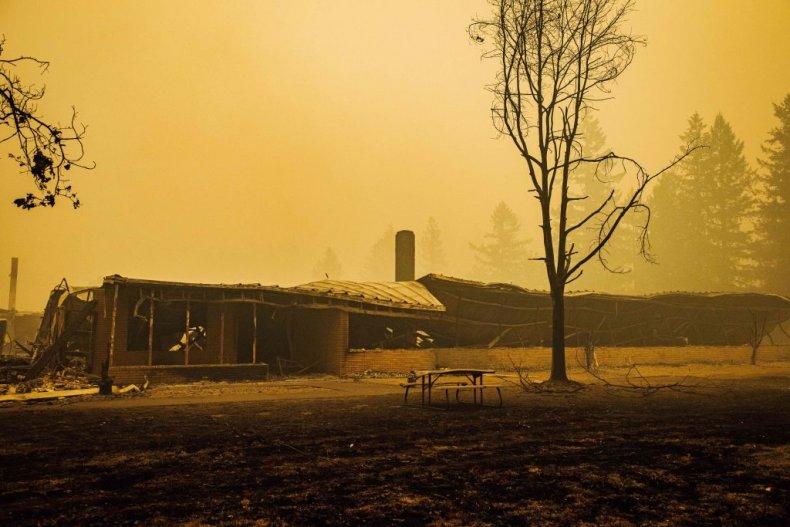 Oregon Fire, Burned School