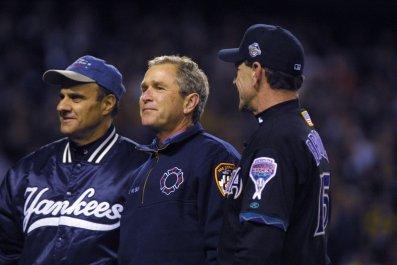 George Bush 2001 World Series