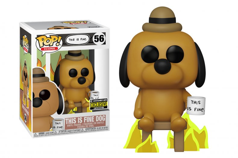 Funko Icons This is Fine Dog Package