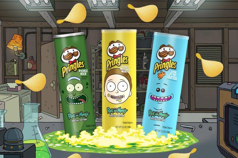 Pringles Rick & Morty Trifecta Flavors
