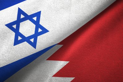 israel, bahrain, flags