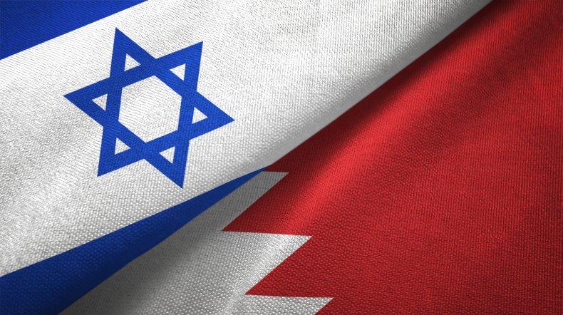 israel, bahrain, flags
