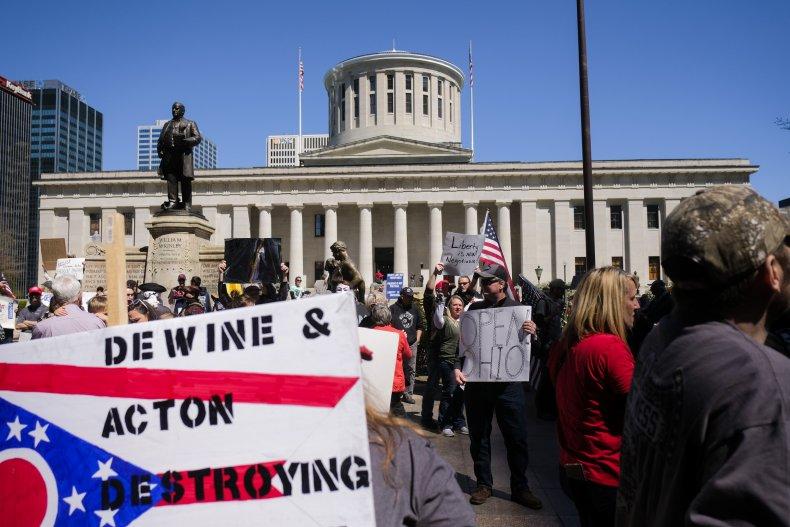Ohio lockdown protest