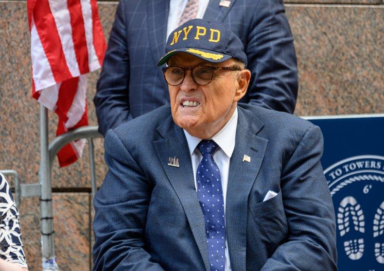 New York City mayor Rudy Giuliani