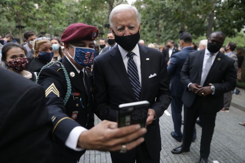 Joe Biden with military