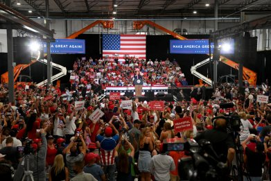 Donald Trump Holds Rally in Nevada