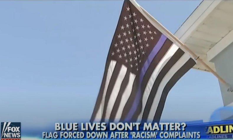 blue lives matter flag blm