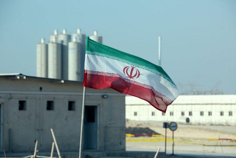 An Iranian Flag at Bushehr Nuclear Plant