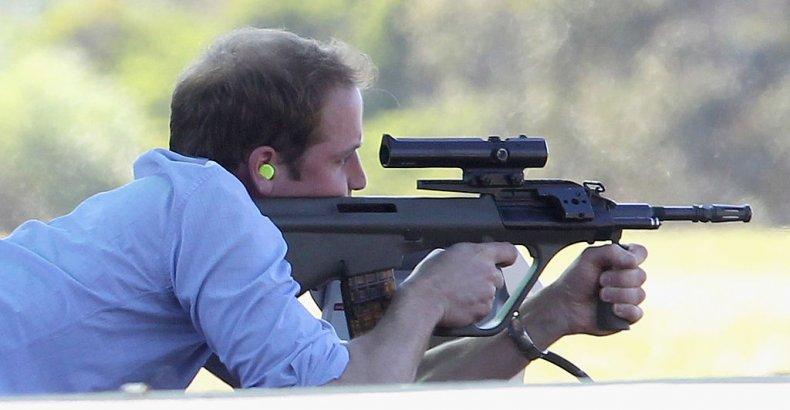 Prince William Shooting Gun in Sydney, Australia