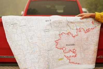 Getty Images Oregon Riverside Fire Map