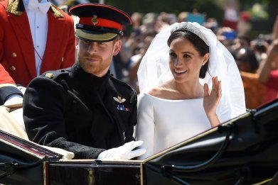 Meghan Markle and Prince Harry Carriage Procession
