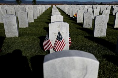 Flags Headstone