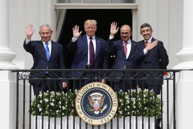 Abraham Accords signing at the White House