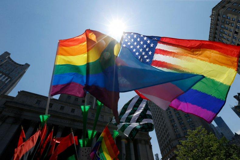 lgbt flag protest
