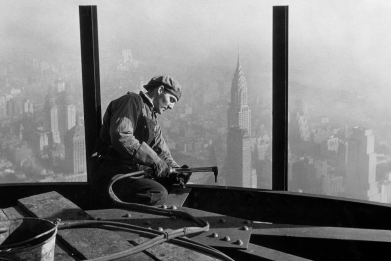 What American landmarks looked like under construction