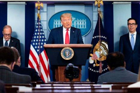 Donald Trump, Larry Kudlow and Steve Mnuchin