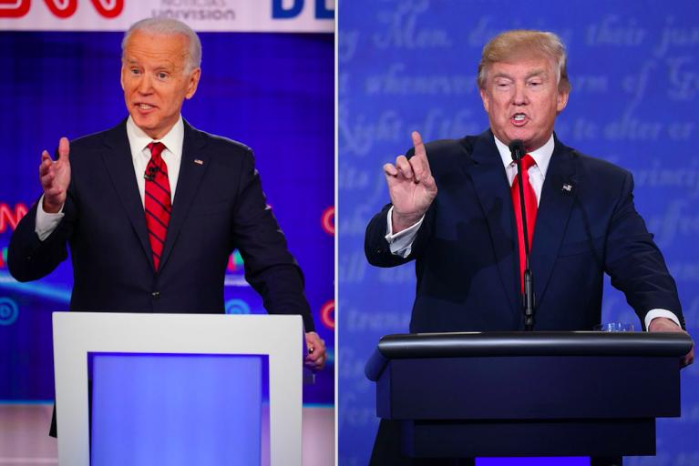 trump biden debate night