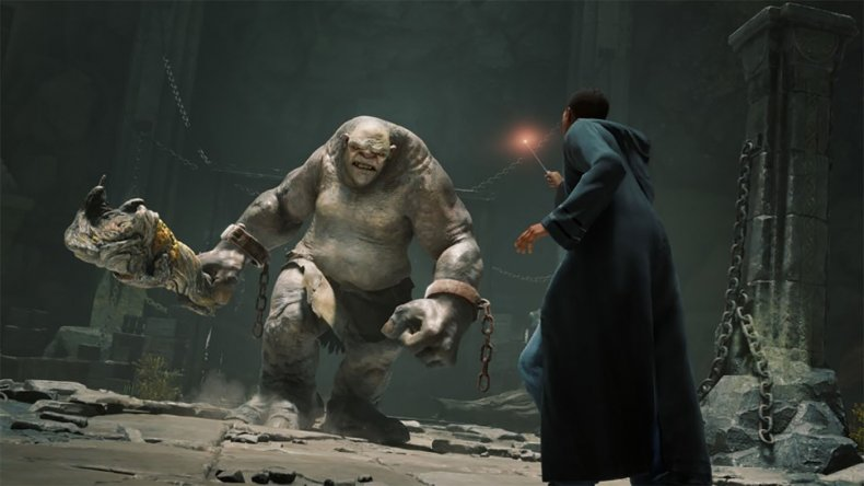 hogwarts legacy harry potter game screenshot troll
