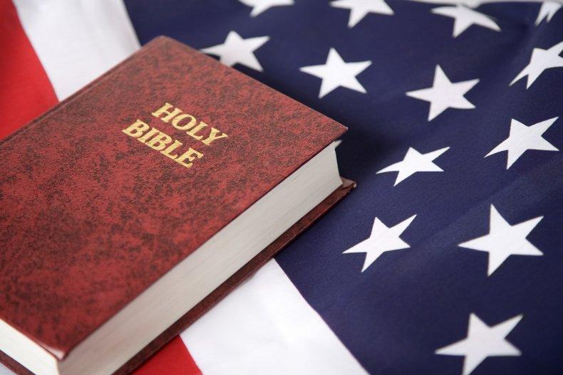 Bible with U.S. Flag