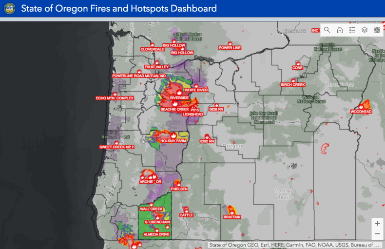 Oregon Fire Map Current Oregon Fire Map, Update, Storm to Help Firefighters Battle the Blazes