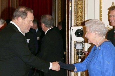 Queen Elizabeth II and Harvey Weinstein