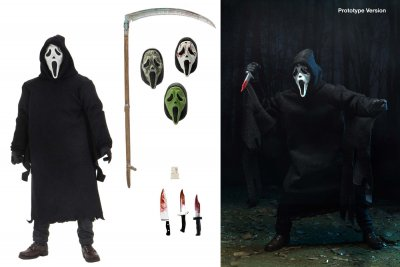 Neca Scream Ghost Face Action Figure Display