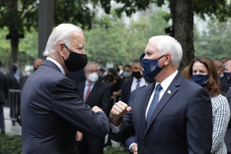 joe biden mike pence 9/11 memorial